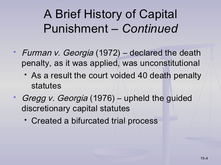 essays on case furman v georgia Racial discrimination - furman v georgia case paper resources: the color of justice: race, ethnicity, and crime in america write a 700- to 1,050-word pape.