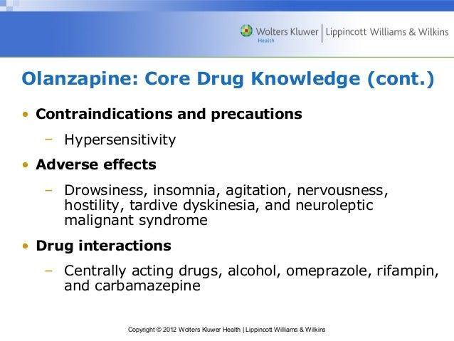 Olanzapine Sleepiness