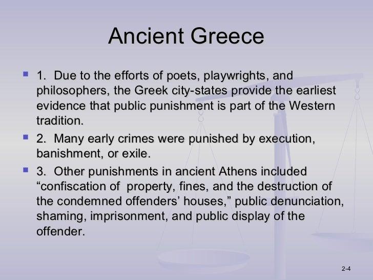 Punishments in Ancient Greece