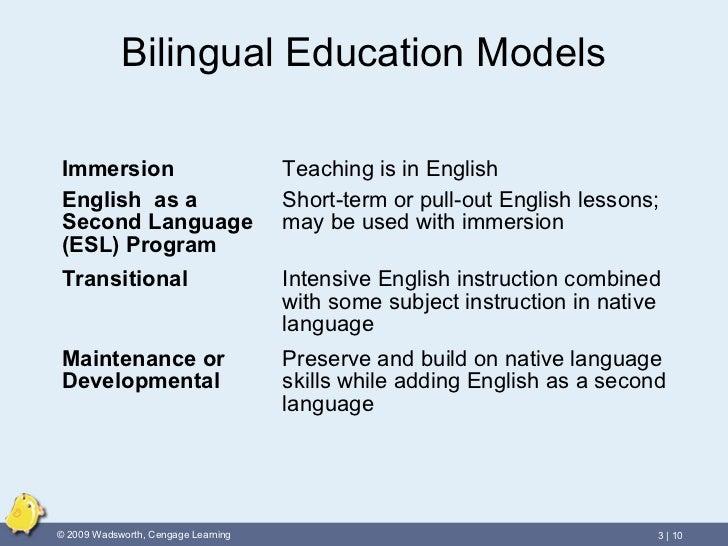Bilingual ed vs english immersion