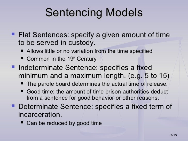 sentencing models in corrections