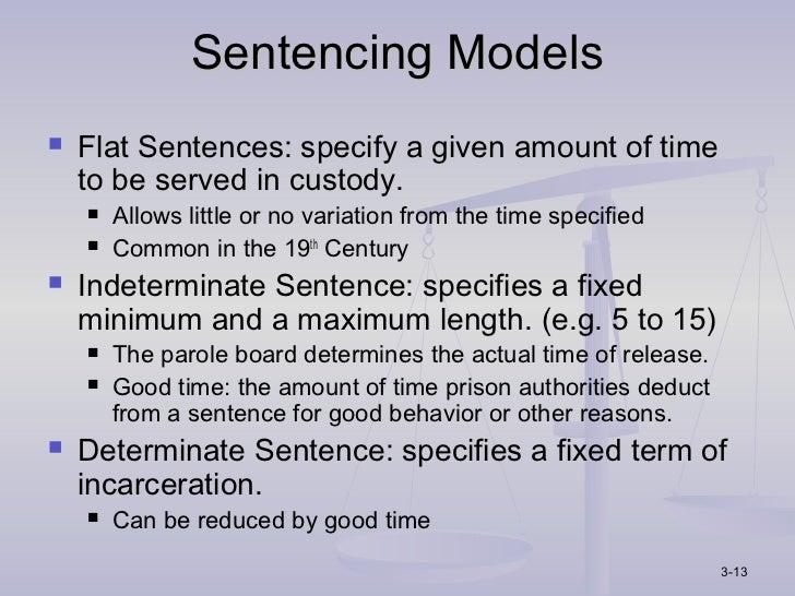 sentencing models in corrections