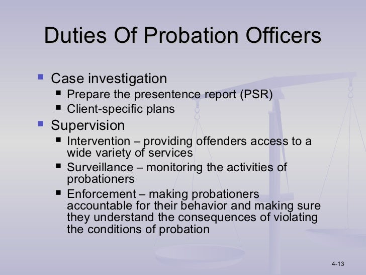 High Quality Duties Of Probation Officers ...