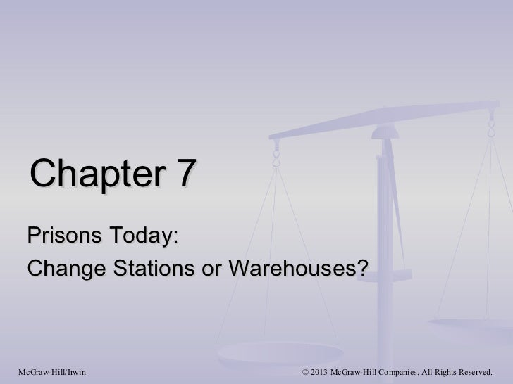 Chapter 7 Prisons Today: Change Stations or Warehouses?McGraw-Hill/Irwin        © 2013 McGraw-Hill Companies. All Rights R...