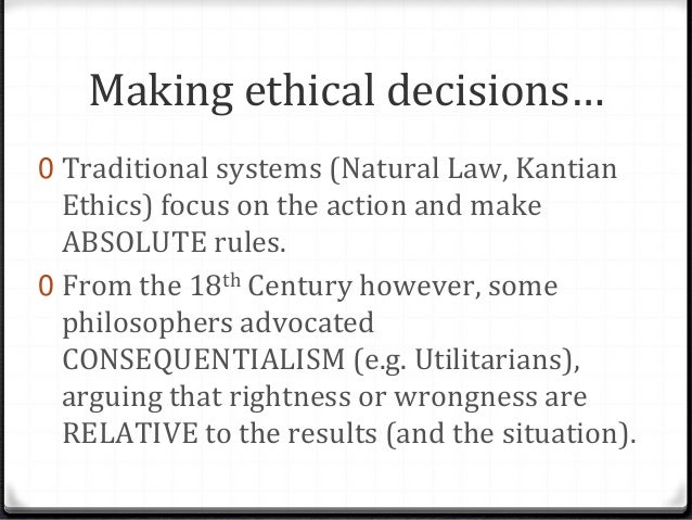 Protestant christianity and the situation ethics
