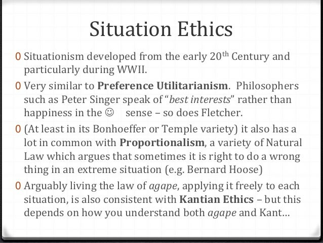 Situation Ethics Essay Sample