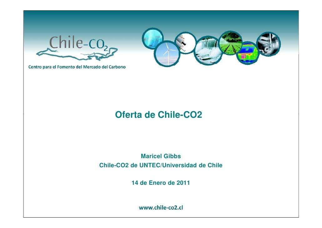 Oferta de Chile-CO2             Maricel GibbsChile-CO2 de UNTEC/Universidad de Chile          14 de Enero de 2011