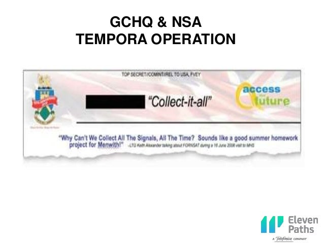 GCHQ & NSA TEMPORA OPERATION