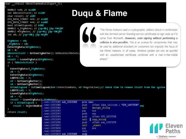 Duqu & Flame