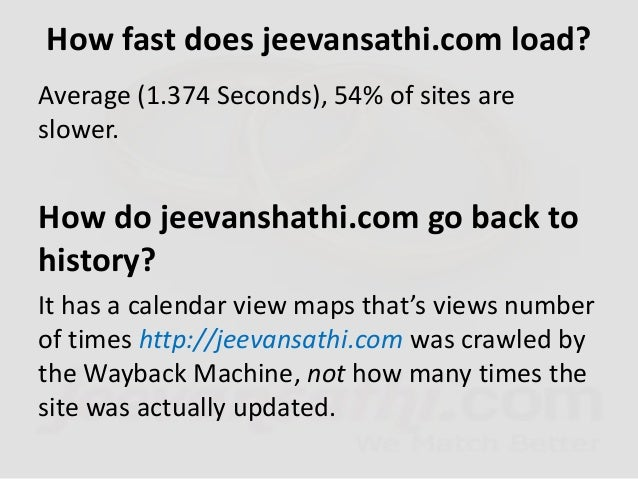 How engaged are visitors to jeevansathi.com? • Bounce Rate • 31.90% • Daily Page-views per Visitor • 9.34 % • Daily Time o...