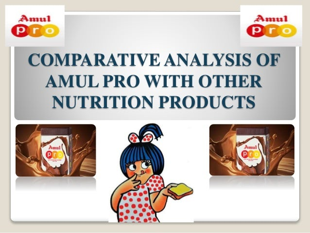 Comparative analysis of Amul Pro with other nutritional products