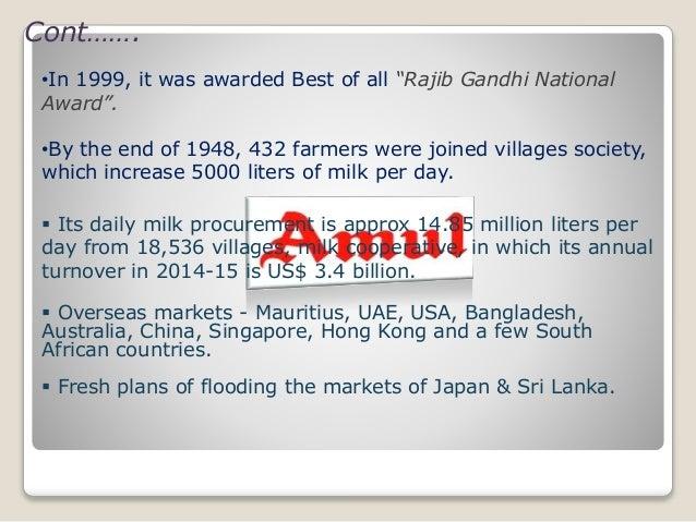 Pest analysis of amul
