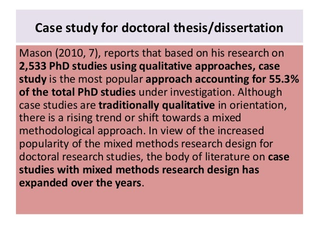 Case study for dissertation