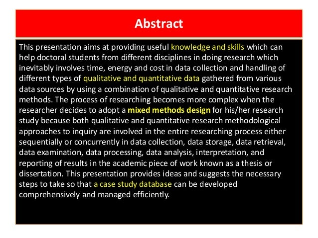 applied research case study essay