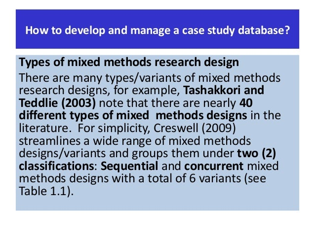 Yin, R. K. (2009). Case study research: Design and methods ...