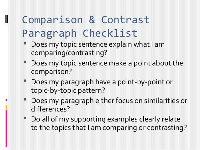 contrasting pattern thesis statement Add a thesis statement,  consistent organizational pattern 6 does the conclusion show why the subjects are important to the writer put a check mark next to.