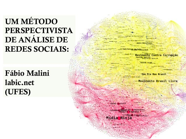 UM MÉTODO PERSPECTIVISTA DE ANÁLISE DE REDES SOCIAIS: Fábio Malini labic.net (UFES)