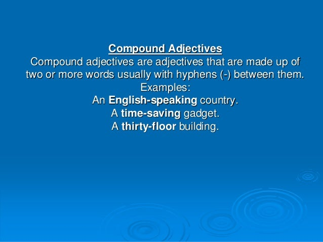 following compound nouns The following sentences are just a few examples of compound nouns compound noun examples have been italicized for easy identification compound nouns can be made with two nouns: let's just wait at this bus stop.