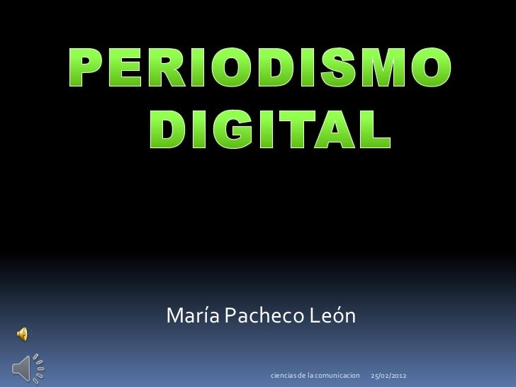 María Pacheco León         ciencias de la comunicacion   25/02/2012