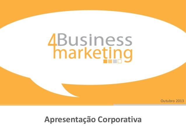 Outubro 2013  Apresentação Corporativa