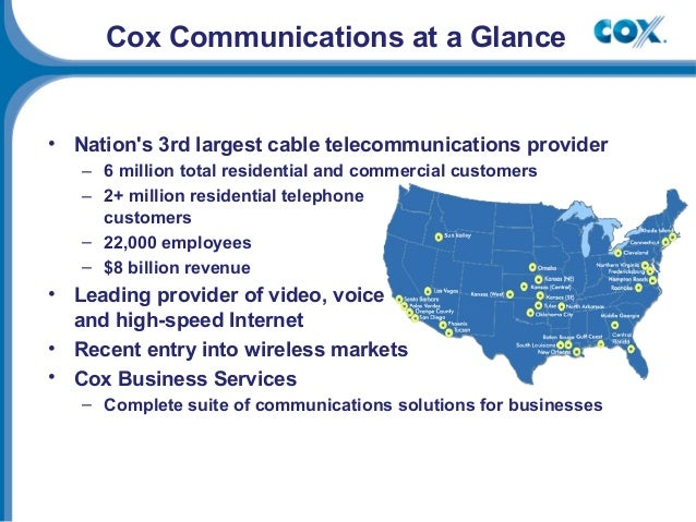 cox communications inc 1999 solution Cox communications, inc - salary - get a free salary comparison based on job title, skills, experience and education accurate, reliable salary and.