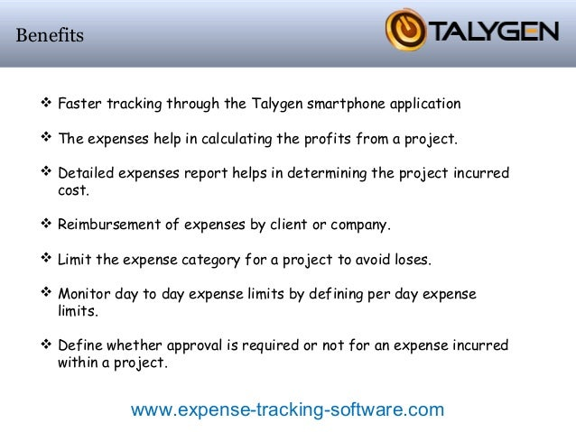 project expense tracking