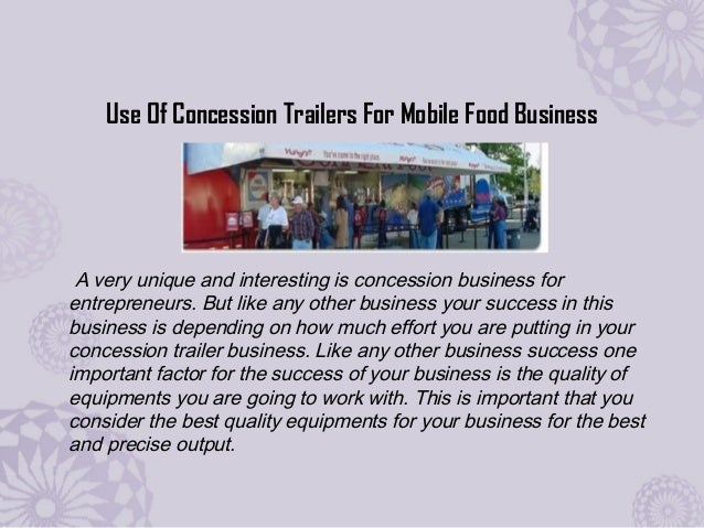 Have your customized Concession Food Trailer designed from an authorized dealer Slide 2