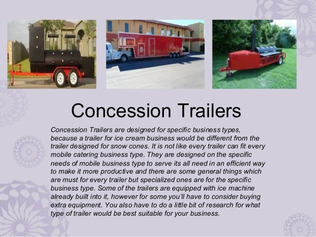 Have your customized Concession Food Trailer designed from an authorized dealer Slide 3