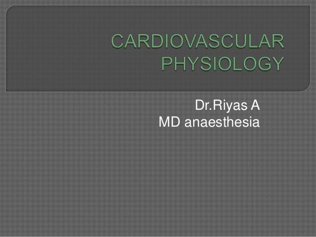 Dr.Riyas A MD anaesthesia