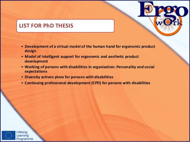 phd thesis ontechnical education Good (no, great) phd dissertation priya narasimhan •my undergraduate education your phd dissertation is a significant piece of independent writing.