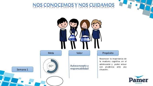 Autoconcepto y responsabilidadSemana 1 Meta Valor Propósito Reconocer la importancia de la madurez cognitiva en el adolesc...