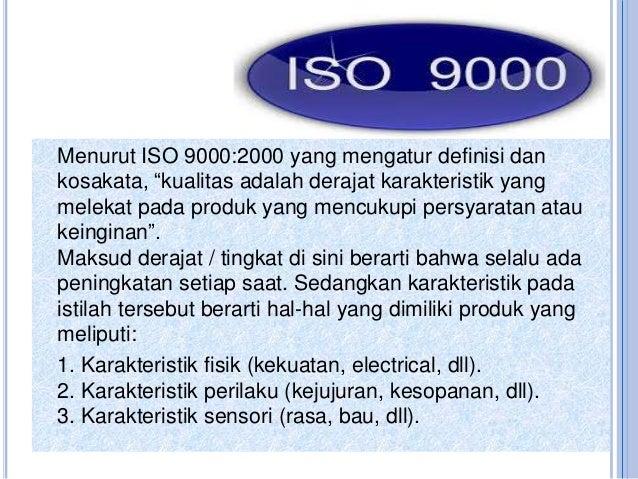 pengertian mutu menurut iso 9000
