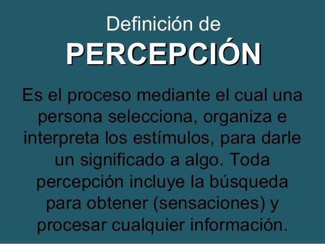 La percepci n y sus fases la sensaciones for Significado de exterior