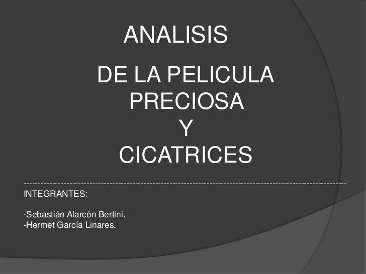 ANALISIS                         DE LA PELICULA                           PRECIOSA                                Y       ...