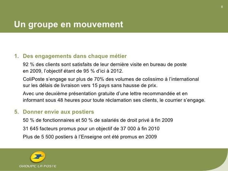 power point de pr sentation du rapport annuel 2009 du groupe la poste. Black Bedroom Furniture Sets. Home Design Ideas