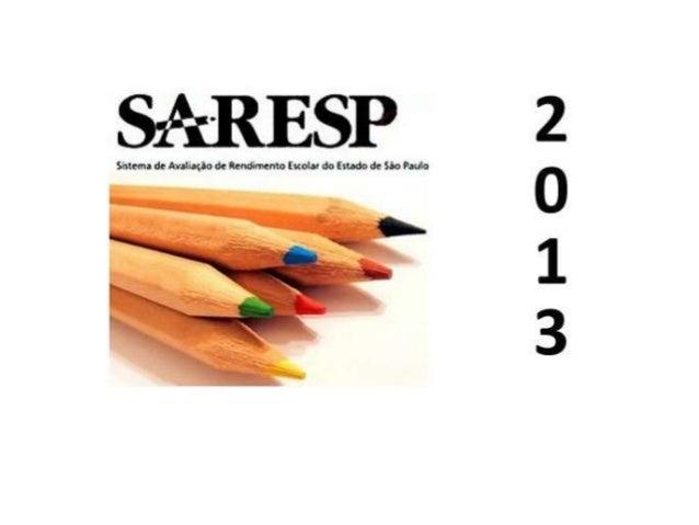 """E.E """"PROF.FERNANDO RICARDO"""" Reflexões para Dia do SARESP na Escola 2 outubro 2013 Equipe gestora:Ione,Cidinha,Antonia"""