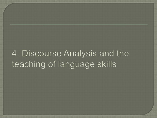 15 discourse analysis The terms critical linguistics (cl) and critical discourse analysis (cda)  tend  to move, on multiple timescales, from critical discourse analysis 15.