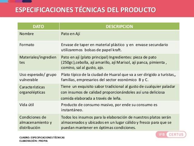 Ejemplo de trabajo final de desarrollo de idea de negocio - Descripcion del producto ...