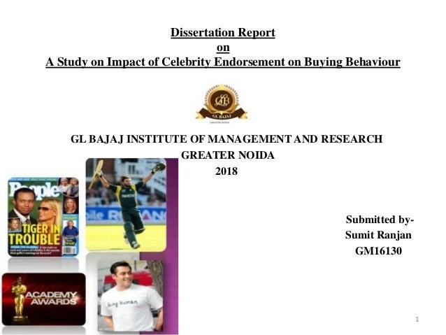 Dissertation on celebrity endorsement