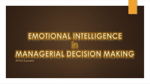 Research papers on emotional intelligence and managerial effectiveness