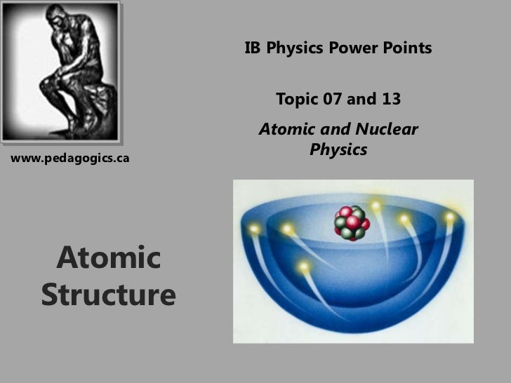 IB Physics Power Points                       Topic 07 and 13                     Atomic and Nuclearwww.pedagogics.ca     ...
