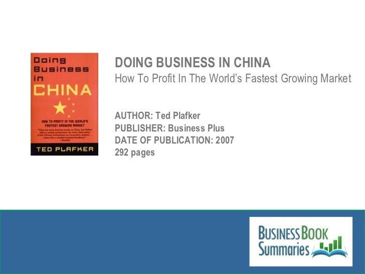A pocket guide to doing business in China