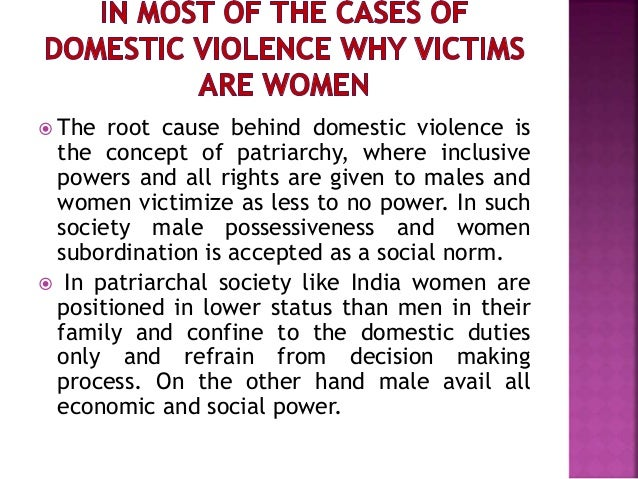 domestic violence in india causes
