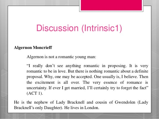 algernon moncrieff and jack worthing relationship problems