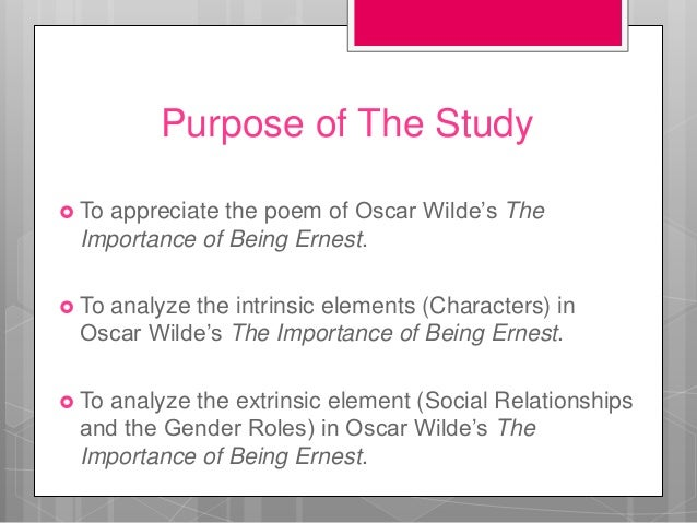 the importance of being earnest satire The importance of being earnest essay will depict a play expressing the writer's pursuit for the beauty and the truth in a funny and entertaining approach.