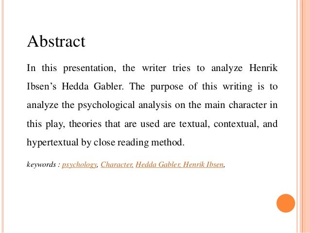 hedda gabler analysis essay Essays and criticism on henrik ibsen's hedda gabler - critical essays.