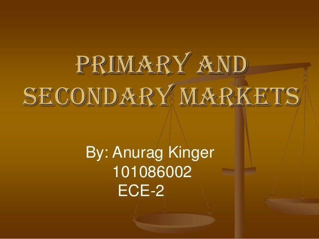 primary market and secondary market pdf
