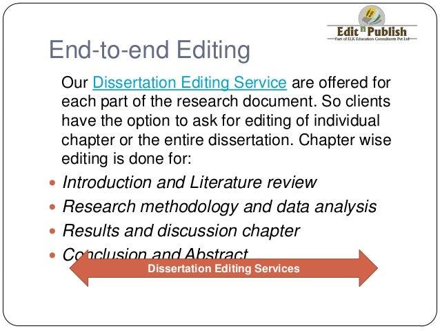 Dissertation copy editing