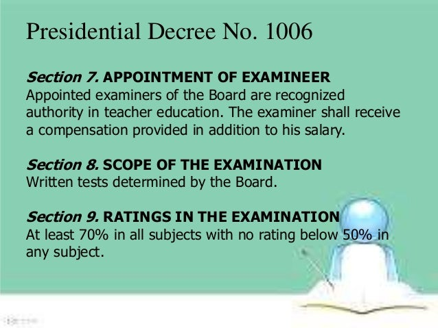 history of presidential decree 1006