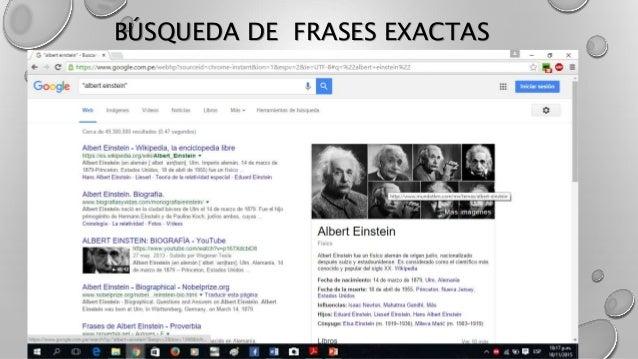 BÚSQUEDA DE FRASES EXACTAS
